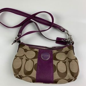 "Coach Handbag crossbody signature ""C"" pattern"